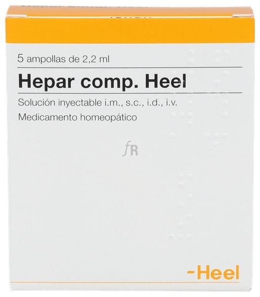 Heel Hepar compositum 5 ampollas 2,2 Ml.