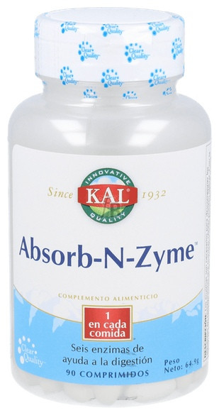 Absorb-N-Zyme 90 Tabletas Solaray