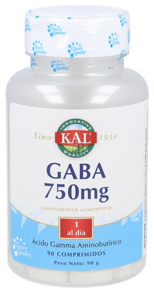 Gaba 750 Mg 90 Tabletas Solaray