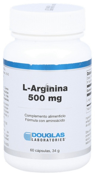 L-Arginina 500 mg 60 Cápsulas Douglas