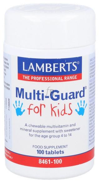 Lamberts Multiguard For Kids 100 Tabletas