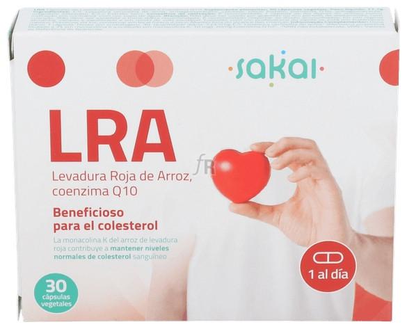 Lra Levadura Roja De Arroz + Q10 30 Cap.  - Sakai