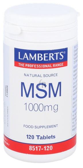 Msm 1000 Mg 120 Tabletas Lamberts