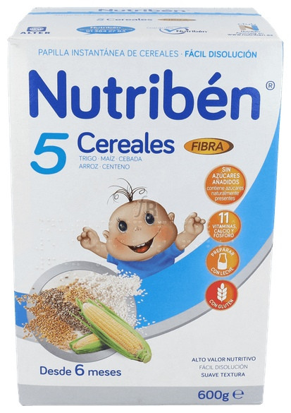 Nutriben 5 Cereales Fibra 600 G - Nestle