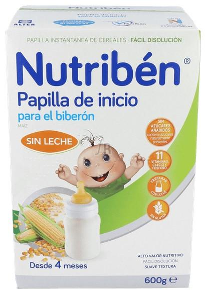 Nutriben Papilla Inicio Biberon Sin Gluten 600Gr - Alter Fcia