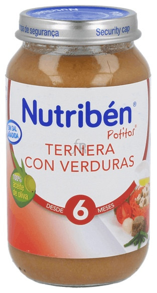 Nutriben Ternera Con Verdura 250 G Grandote