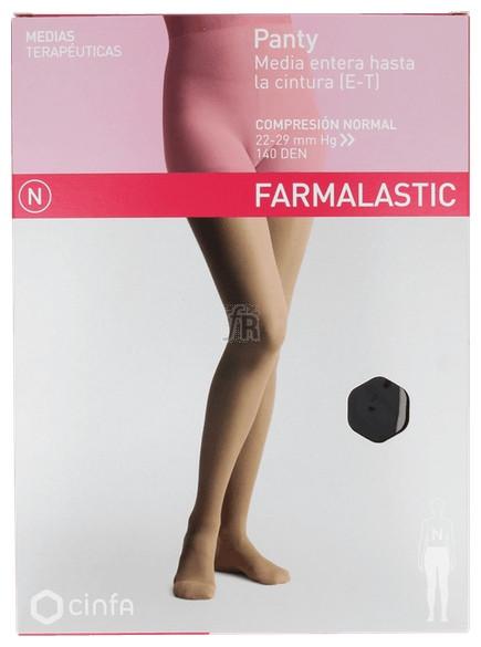 Panty Comp Normal 140 Den Farmalastic Negro T- M - Cinfa