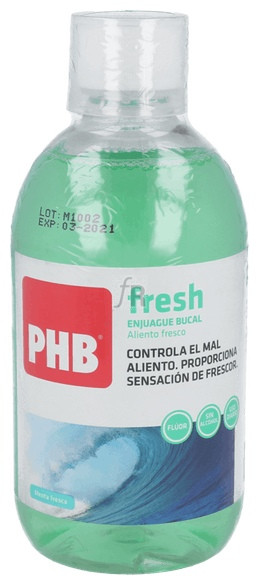Phb Fresh Enjuague Bucal 500 Ml - Farmacia Ribera
