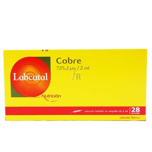 Labcatal 4 Cobre 28 Ampollas