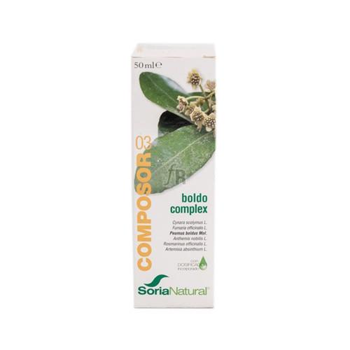 Soria Natural Composor 3 Boldo Complex Gotas 50 ml.