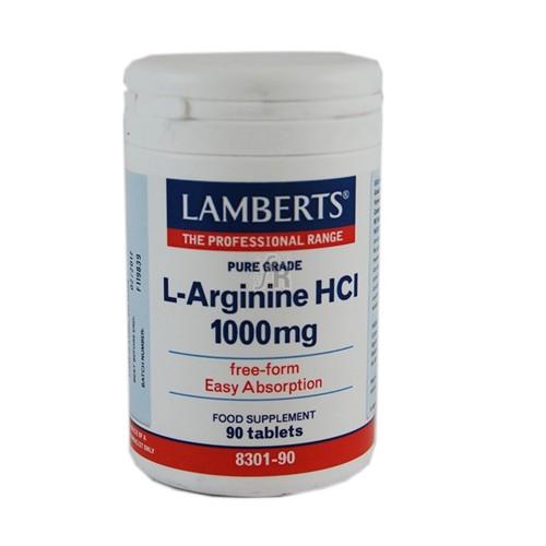 L-Arginine 1000 Mg 90 Capsulas Lamberts