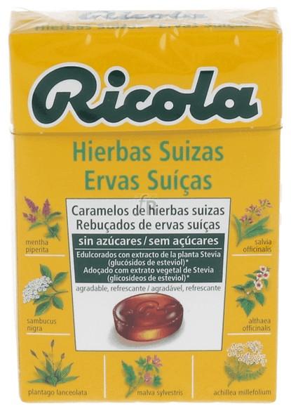Ricola Caramelos Sin Azúcar Hierbas Suizas 50 Gramos