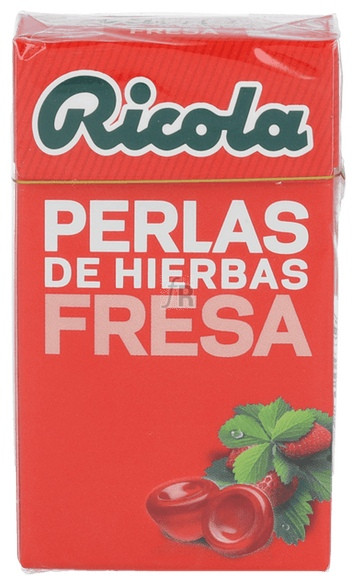 Ricola Perlas Sin Azúcar Hierbas Suizas Fresa 25 Gr.