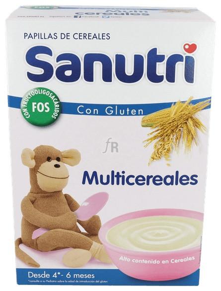 Sanutri Papilla Multicereales Bifidus 600 Gr - Nutrition Sante Iberica