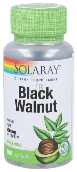 Solaray Black Walnut Hull (Nogal Negro) 100 Cápsulas
