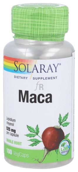 Solaray Maca 525 Mg 100 Cápsulas
