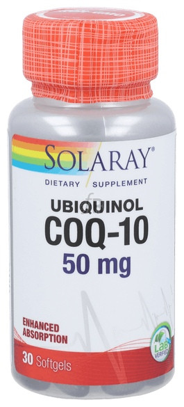 Ubiquinol Coq-10 50Mg 30 Perlas Solaray