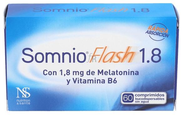 Somnio Flash Melatonina 1,8Mg. Vit. B6 60 Comp. - Dietisa
