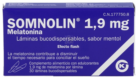 Somnolin Melatonina + Menta 1.9 Mg 30 Laminas Buco