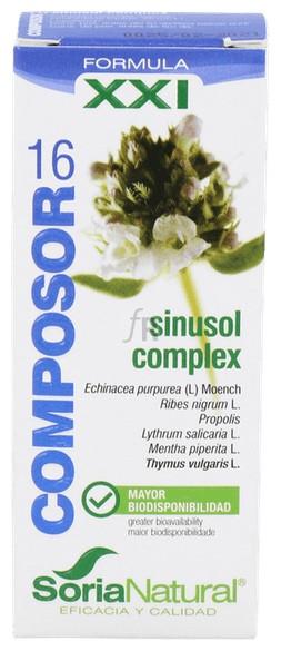Soria Natural Composor 16 Sinusol 25Cc.