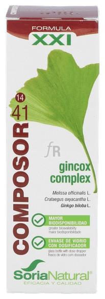 Soria Natural Composor 41 Gincox Gotas 50 Ml - Farmacia Ribera