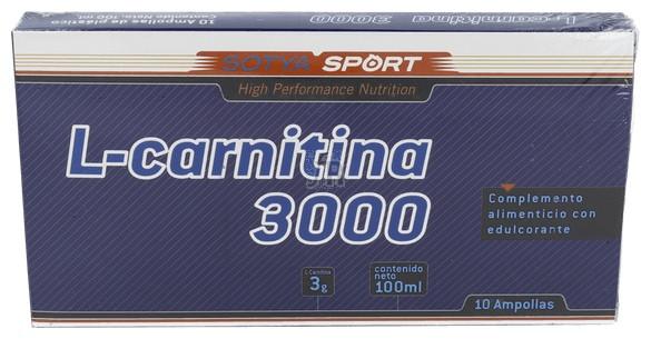 Sotya L-Carnitina 3000 Mg Ampollas. Plástico 10U - Farmacia Ribera