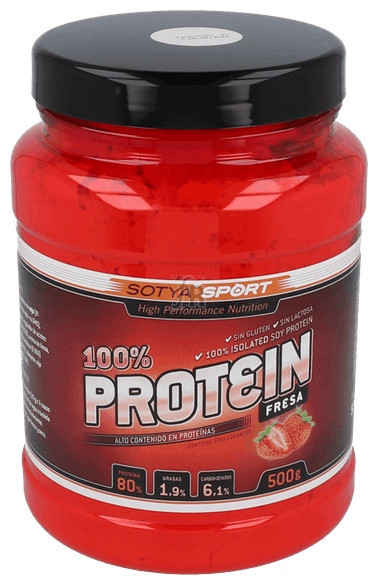 Sotya Proteina Soja 90% Fresa 500 Gr - Farmacia Ribera