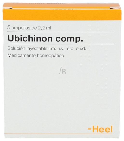 Ubichinon compositum 5 ampollas 2,2 ml