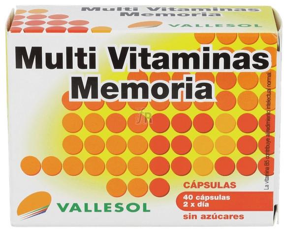 Vallesol Multivitaminas Memoria 40 Capsulas - Diafarm