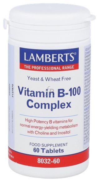 Vitamin B-100 Complex 60 Tabletas