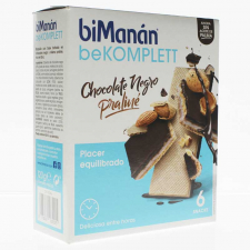 Bimanán Snack Chocolate Negro y Praliné 6 Unidades
