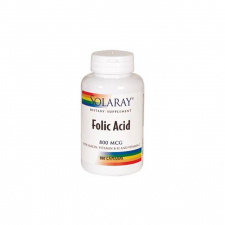 Vitamina B-12 1000Mcg Folic Acid 90 Comp Solaray