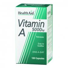 Vitamina A 5.000 UI 100 Cápsulas - Health Aid