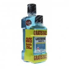 Pack Listerine Mentol 500Ml + Botella 250Ml Regalo - Johnson & Johnson