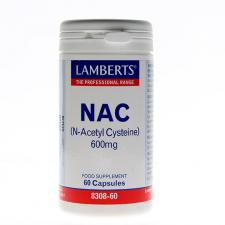 Nac N-Acetyl Cysteine 600Mg 60 Caps Lamberts