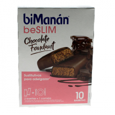 Bimanán Barrita Chocolate Fondant 10Unidades