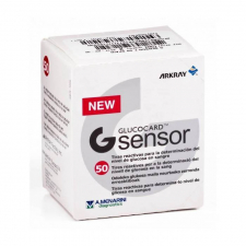 Tira Reactiva Glucemia Glucocard  G Sensor 50 U - Menarini