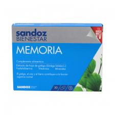 Sandoz Bienestar Memoria 180Mg 30 Cápsulas