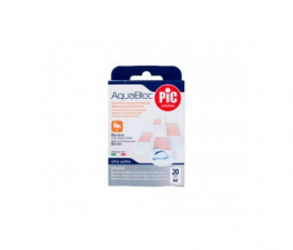 Pic Aquabloc Con Bactericida Aposito Adhesivo Surtido 20 U - Farmacia Ribera