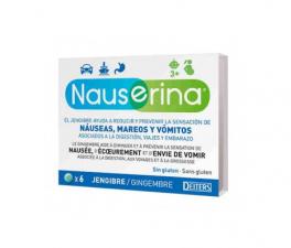 Nauserina Antimareos Jengibre 6 Comprimidos - Farmacia Ribera