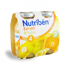 Nutriben Zumo 3 Frutas 130 Ml 2 U