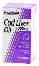 Aceite De Higado De Bacalao1000Mg.60 Cap. Health Aid