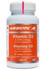 Vitamina D3 5000Ui 30 Comp. - Airbiotic