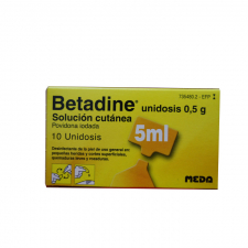Betadine (10% Solucion Topica 10 Unidosis 5 Ml) - Meda