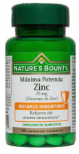 Nature´s Bounty Zinc 25Mg. 100 Comprimidos