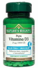 Nature´s Bounty Vitamina D3 25μg (1000Ui) 100 Comprimidos