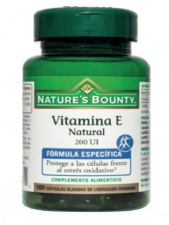 Nature´s Bounty Vitamina E Natural 200Ui 100 Capsulas