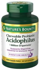 Acidophilus Sabor Fresa 60 Comp. Masticable - Varios