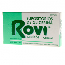 Supositorios Glicerina Rovi Adultos (3.36 G 12 Supositorios)