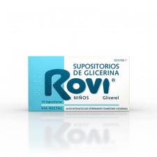 Supositorios Glicerina Rovi Infantil (1.44 G 15 Supositorios) - Johnson & Johnson